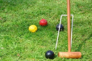 Equipment for playing croquet