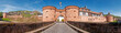 Leinwanddruck Bild - Die Stadtmauer von Büdingen mit Jerusalemer Tor