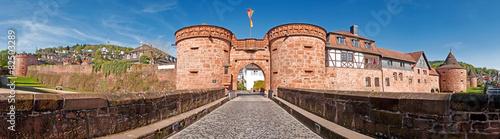 Aluminium Vestingwerk Die Stadtmauer von Büdingen mit Jerusalemer Tor