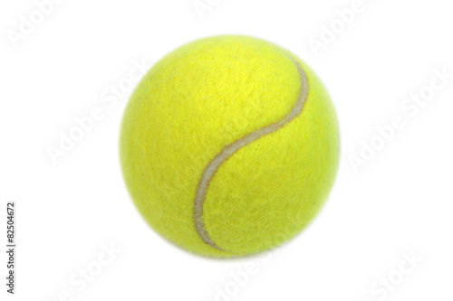 Tennis ball isolated on white background.