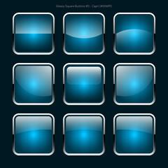 Glossy Square Buttons (Capri)