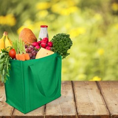 Groceries. Reusable Eco Friendly Grocery Bag
