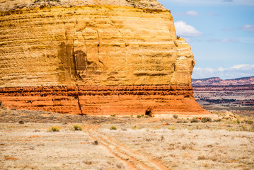 Church rock US highway 163 191 in Utah east of Canyonlands Natio