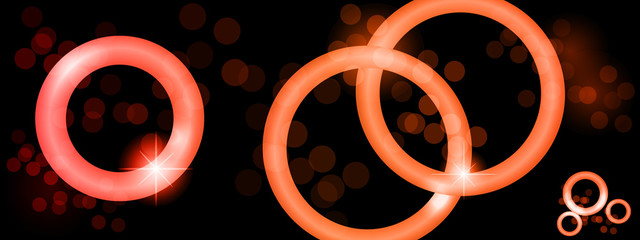 Glowing Circles Background