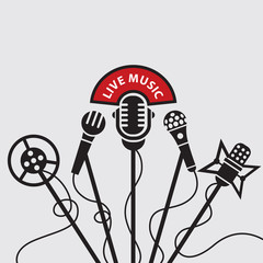 design with five of microphone