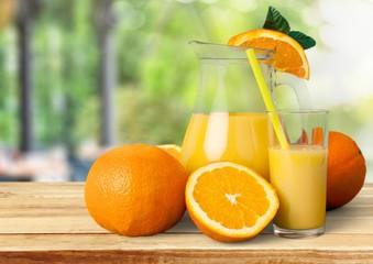 Juice. Oranges, Juice and Leafs