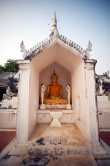 Sitting Buddha in Pagoda.