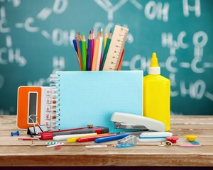 School. Back to school concept , Photo of Items for school