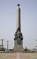 Monument to the heroes of the Civil War in Khabarovsk. Russia