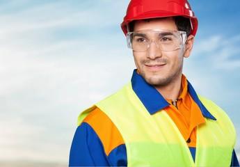 Manual Worker. Smiling Worker