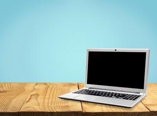 Laptop. Laptop facing left