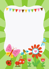 Happy Sweet Garden Bugs copy space