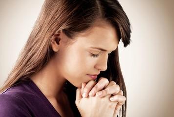Praying. Praying girl