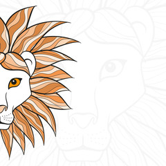 Background with lion head