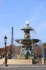 Famous fountain in Place de la Concorde, Paris.