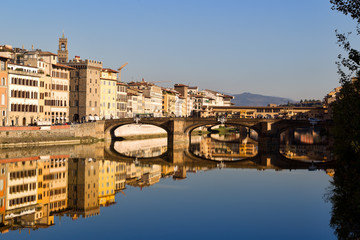 Florence, Old Bridge on Arno river
