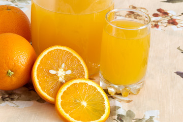 Orange fruit and juce