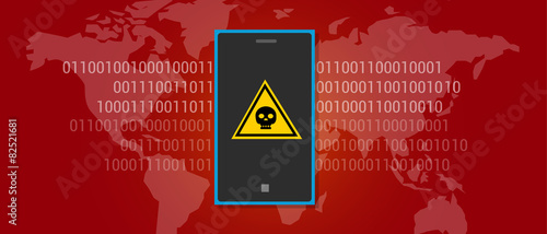 internet data virus malware mobile phone - 82521681