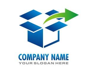 box cardboard logo image vector