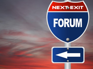 Forum road sign