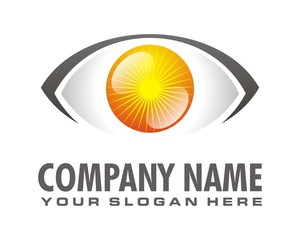 yellow eye logo image vector
