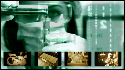 Forensic research in the laboratory and field, Split screen