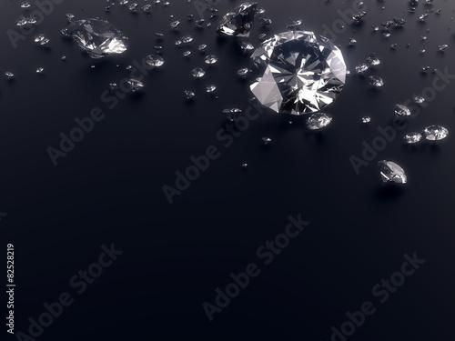 diament na czarnym tle z wycinek ścieżki