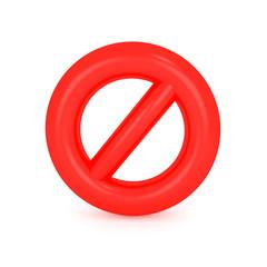 3D  Forbidden Sign