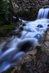 Flowing stream in Crete at Asi Gonia village