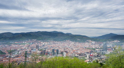 Bilbao skyline from Artxanda mountain