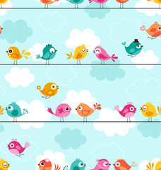 seamless birds pattern