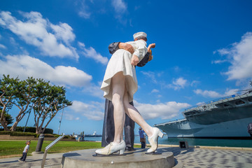 Unconditional Surrender sculpture at sea port