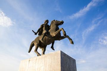 Alexander the Great Statue in Thessaloniki, Greece