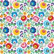 Materiał do szycia Seamless Polish folk art floral pattern
