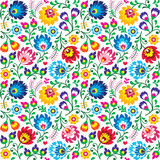 Fototapety Seamless Polish folk art floral pattern