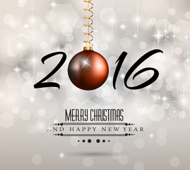 2016 New Year and Happy Christmas background