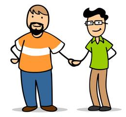 Schwules Paar Männer