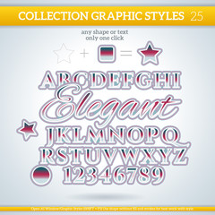 Elegant Graphic Styles for Design. use for decor, text, title