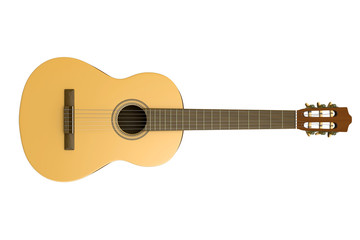 Classical Guitar Isolated