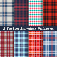 vector set of tartan squared seamless abstract fabric