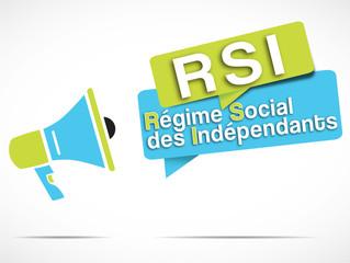 mégaphone : RSI (régime social des indépendants)
