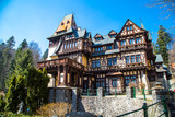 Pelisor castle in Romania poster