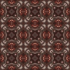 Seamless kaleidoscope texture or pattern in brown spectrum 3