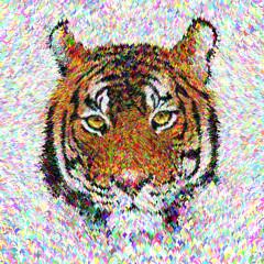 Multicolor tiger head design