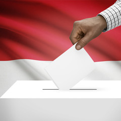 Ballot box with national flag - Indonesia