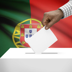 Ballot box with national flag series - Portugal