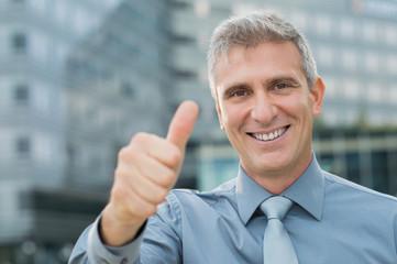 Successful Businessman Outdoor