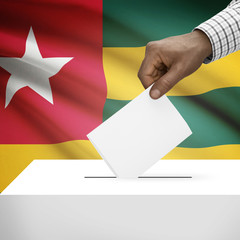 Ballot box with national flag on background series - Togo