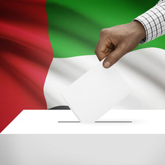 Ballot box with national flag series - United Arab Emirates