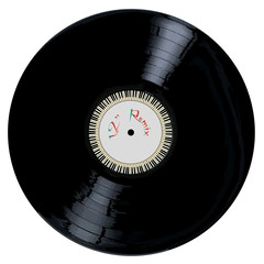 A typical LP vinyl record with the legend 12 inch REMIX